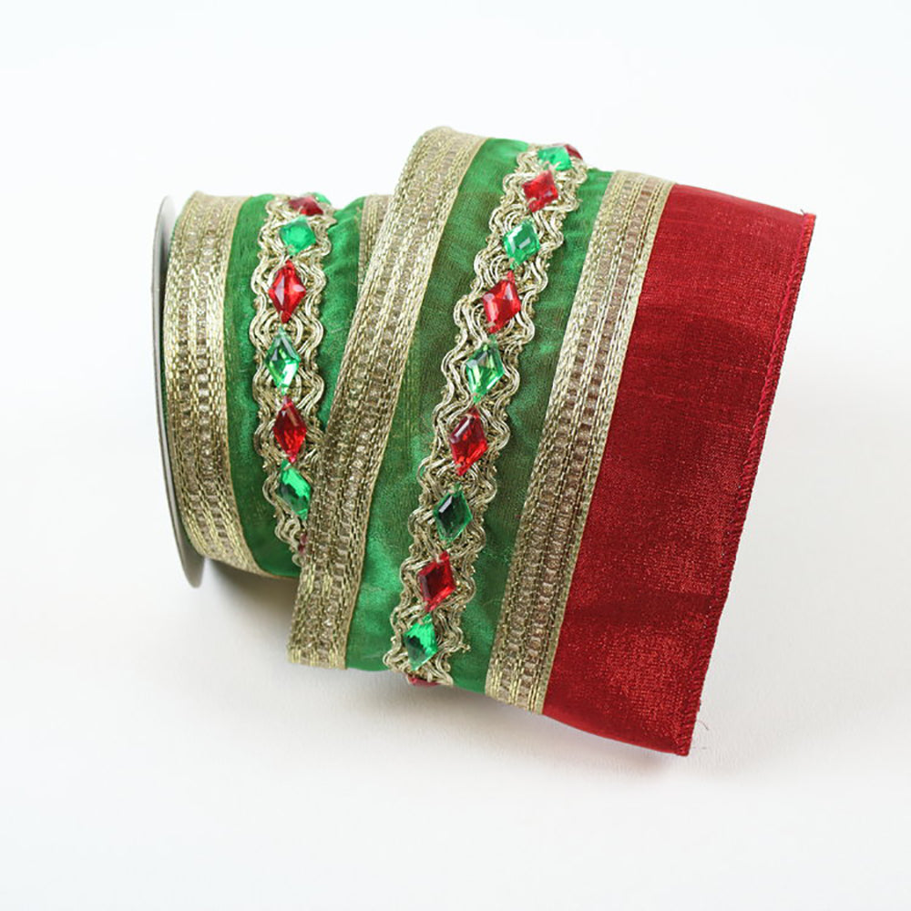 Eclectic Red & Green Ribbon