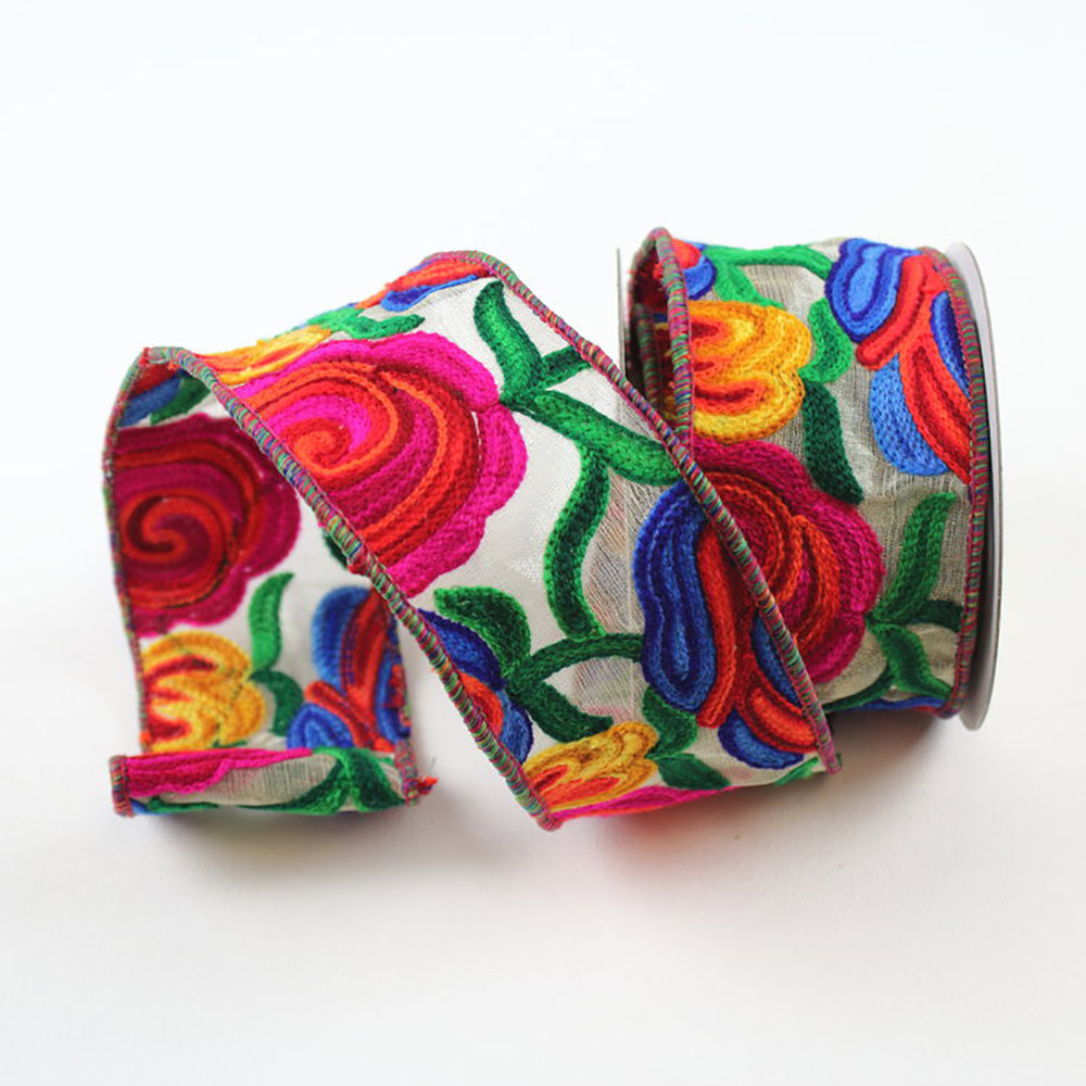 Multi Floral Ribbon