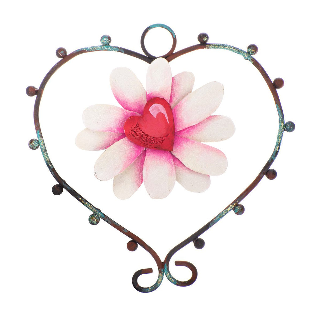 Flower and Heart Charm