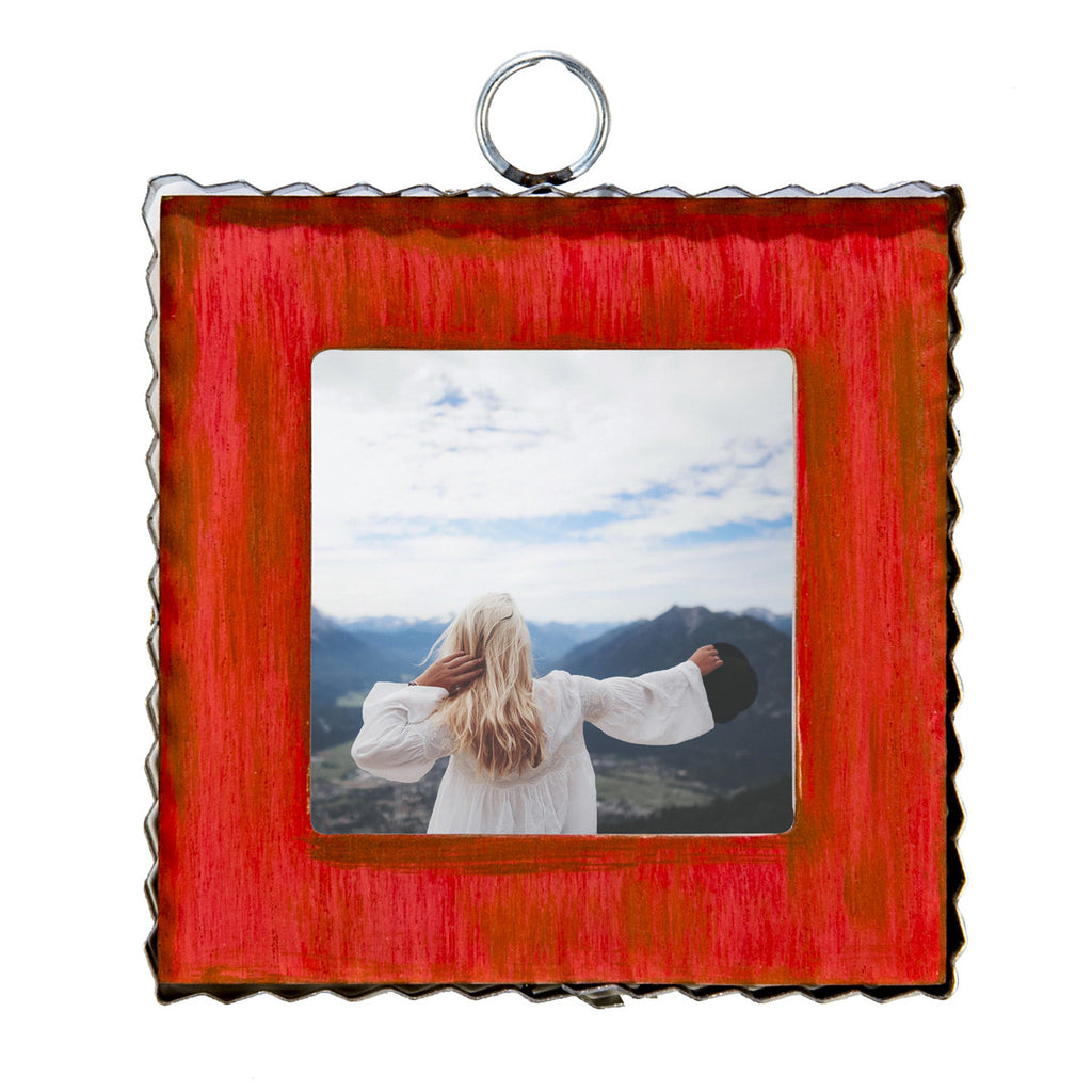 Pie Crust Photo Frame, Red