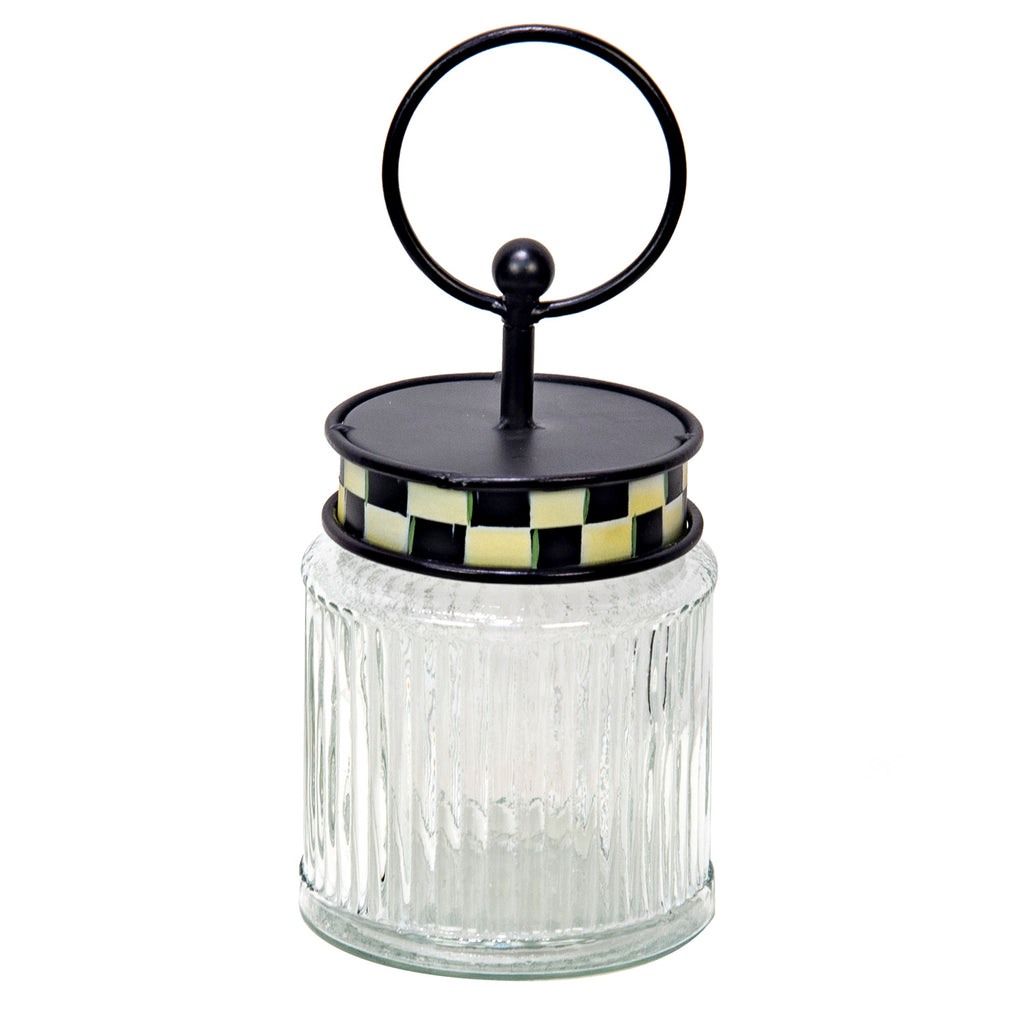 ELEGANT ROUND GLASS JAR