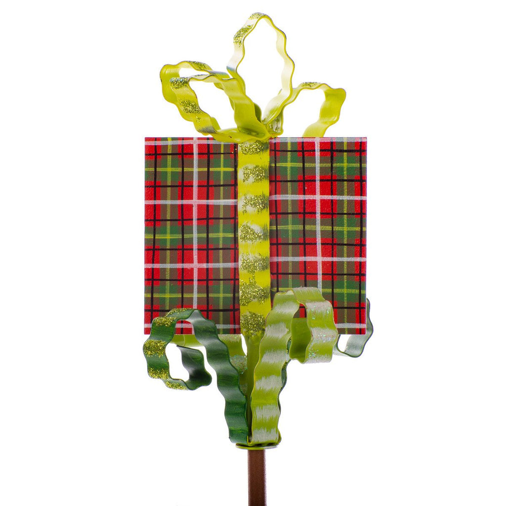 Plaid Gift Finial