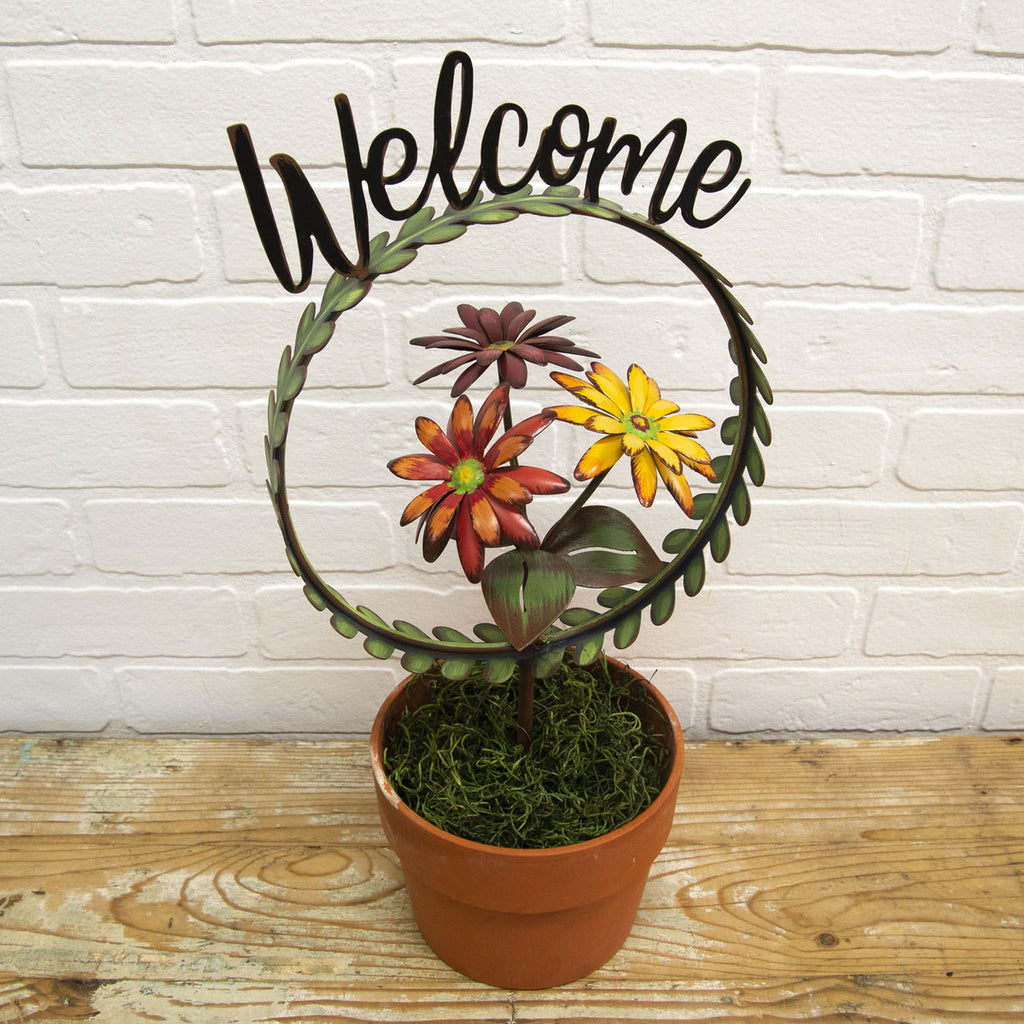 """Welcome"" Wreath Finial Holder"