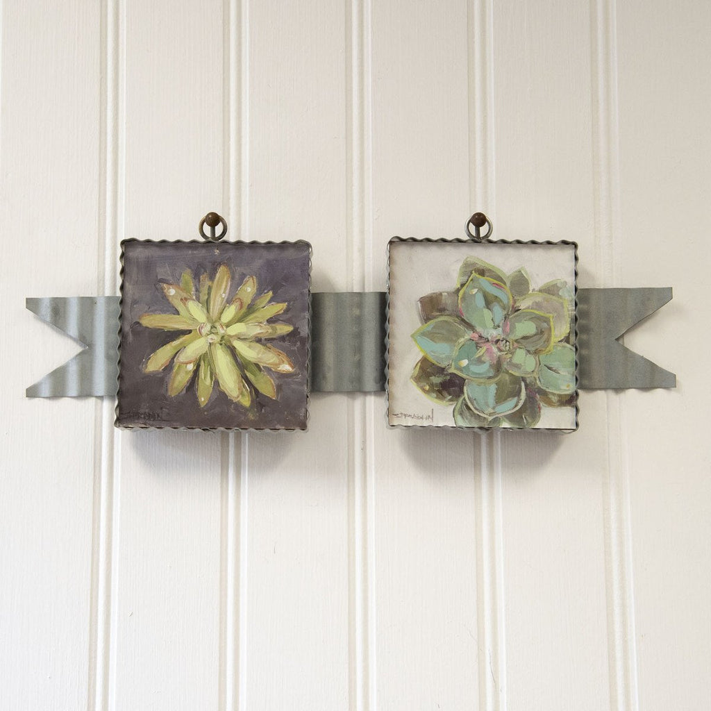 Corrugated Horizontal 2 Picture Hanger Ribbon Banner