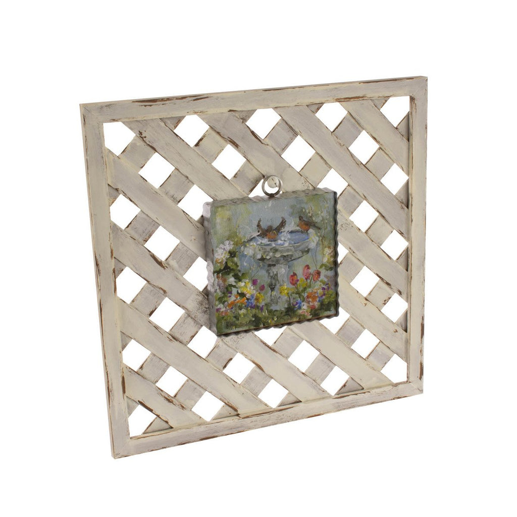 White Lattice Display Board