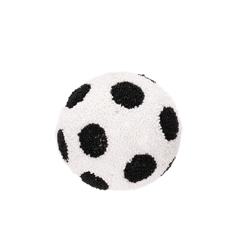 Black and White Polka Dot Beaded Ball
