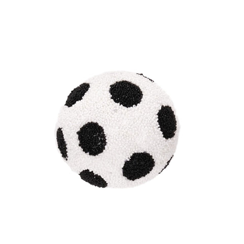 Package of 4 Red and White Striped Balls
