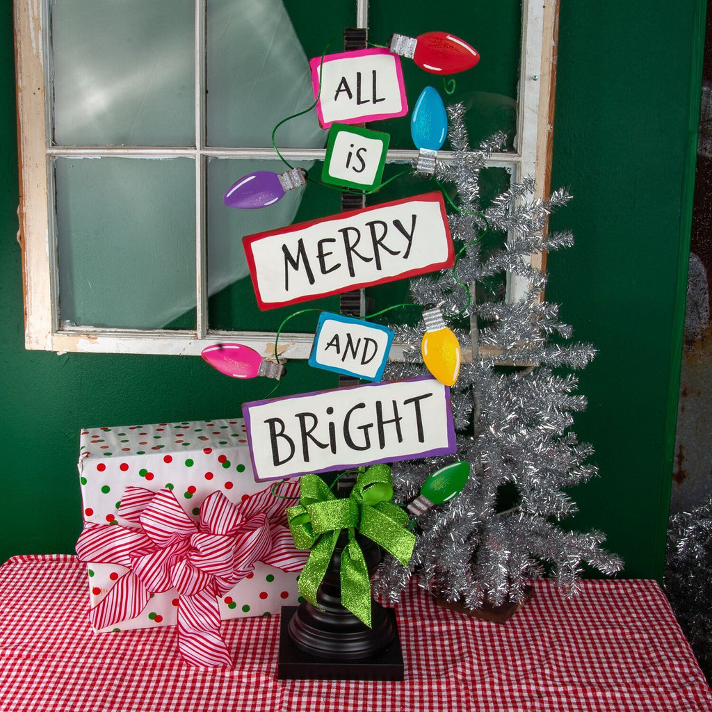 All is Merry & Bright Bulb Sign