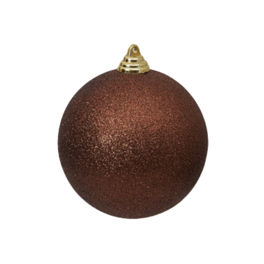 Chocolate Glitter Ball Ornament, 8""
