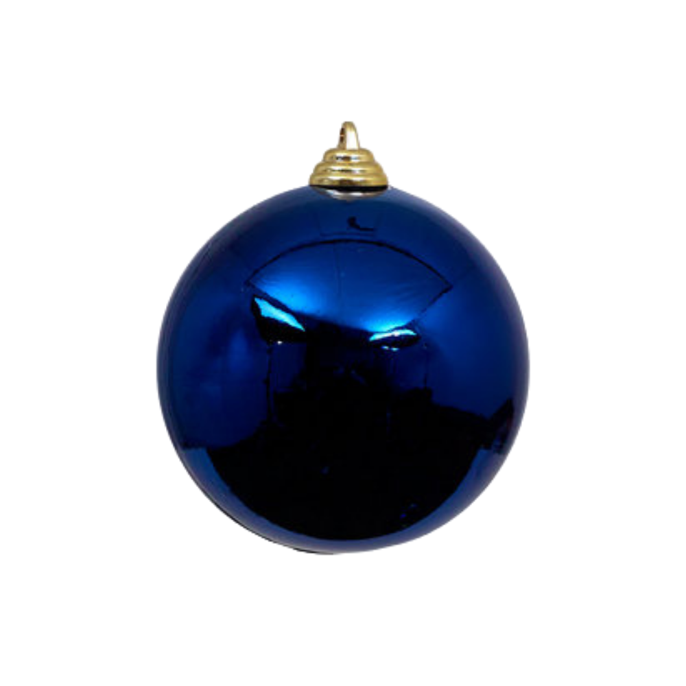 Blue Shiny Ball Ornament