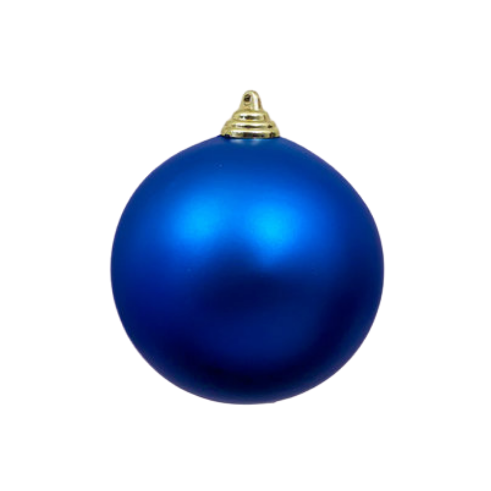 Blue Matte Ball Ornament