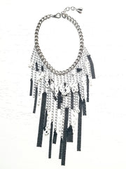 Major Chain Mail Black and White Necklace
