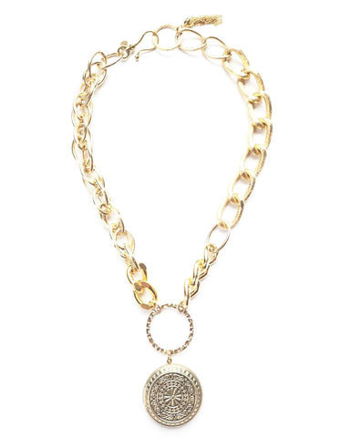 Thick Chain Locket Necklace