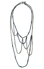 Outline Necklace Gemtones