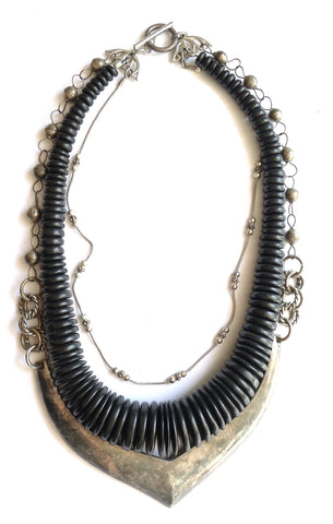 Bead Layer Statement Necklace