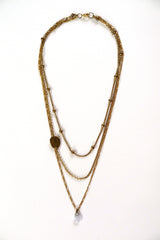 Delicate Three Chain Necklace