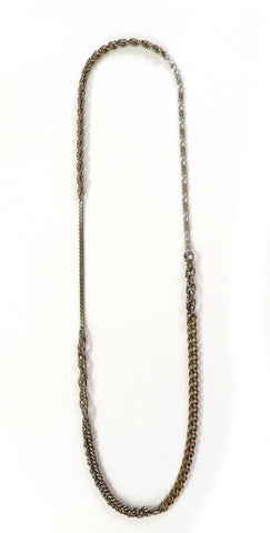 Mixed Silver Chain Necklace