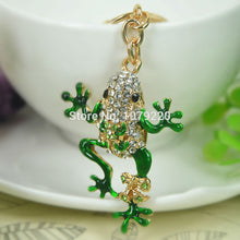 Load image into Gallery viewer, Rhinestone Frog Car Pendant Keyring