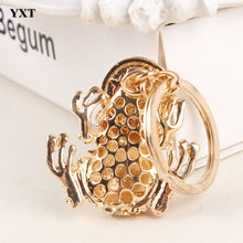 Load image into Gallery viewer, Frog with Plutus Coin Rhinestone Keychain