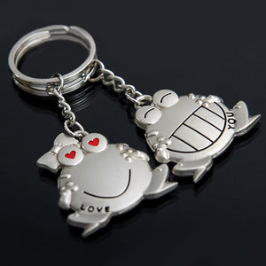His and Hers I Love You Big Mouth Frog Key Rings - Two per Order