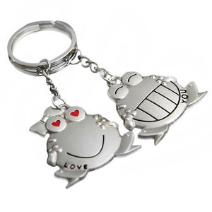 His and Hers I Love You Big Mouth Frog Key Rings