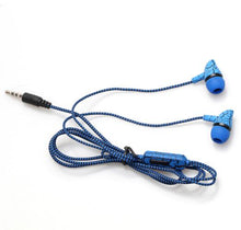 "Load image into Gallery viewer, ""Crackled and Braided"" Wired Earbuds with Microphone and 3.5mm Universal Connection"
