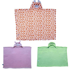 Combo Frog Theme Baby Bath Towel  and Bathrobe With Hood for Children