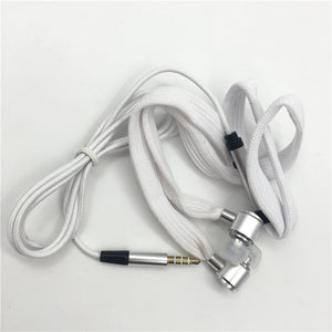 Shoelace Stereo Earbuds With Hands Free Mic