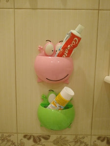 Frog Toothbrush Holder with Wall Suction Cups