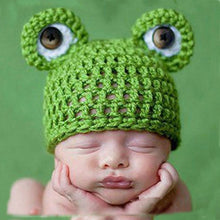 Load image into Gallery viewer, Knit Frog Crochet Cap for Newborn Baby Kids Photography Prop
