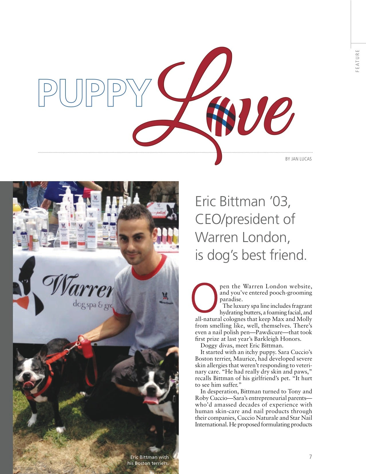 Eric Bittman Towson Alumni Warren London Article