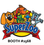 Superzoo logo and booth