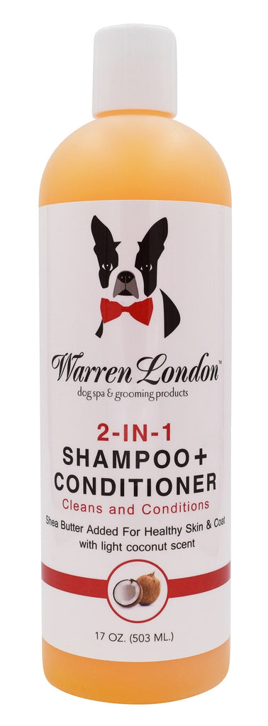 2-in-1 Dog Shampoo + Conditioner - Coconut Scented - 17oz warren london dog products