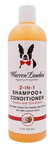 2-in-1 Dog Shampoo + Conditioner - Coconut Scented - 17oz