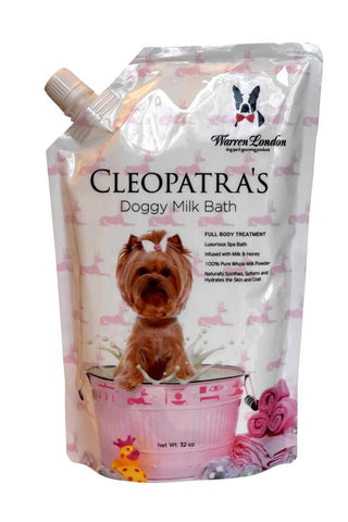 Cleopatra's Doggy Milk Bath - Standard Bath or Spray On Application - Luxurious Spa Formula that Cleans, Soothes, and Softens Skin & Coat warren london dog products