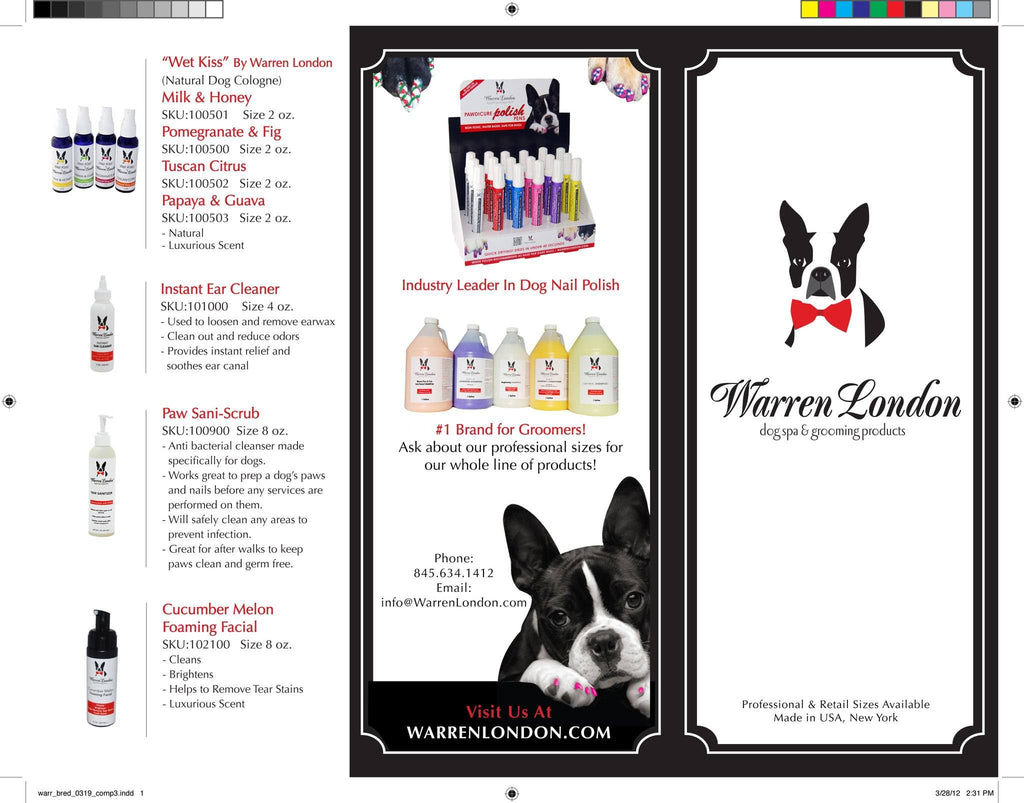 Brochure Pack of 10 warren london dog products