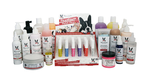 Samples - 1 Of Everything! warren london dog products