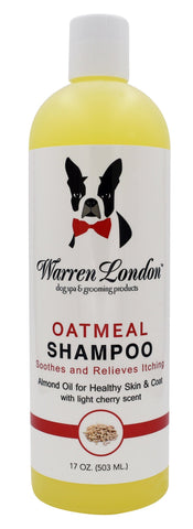 Oatmeal Shampoo - For Dogs With Itchy Skin and Coats - Cherry Scented 17oz warren london dog products