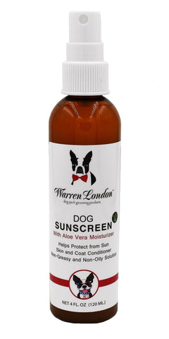 Dog Sunscreen With Aloe Vera Moisturizer warren london dog products