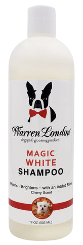 Magic White Brightening Dog Shampoo - Cherry Scented - 17oz