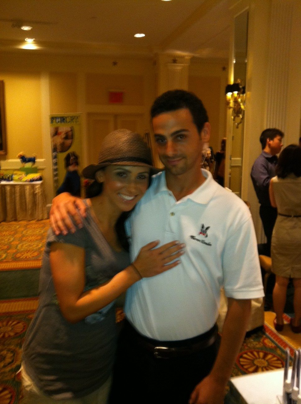 Jenn Sterger with Eric Bittman of Warren London