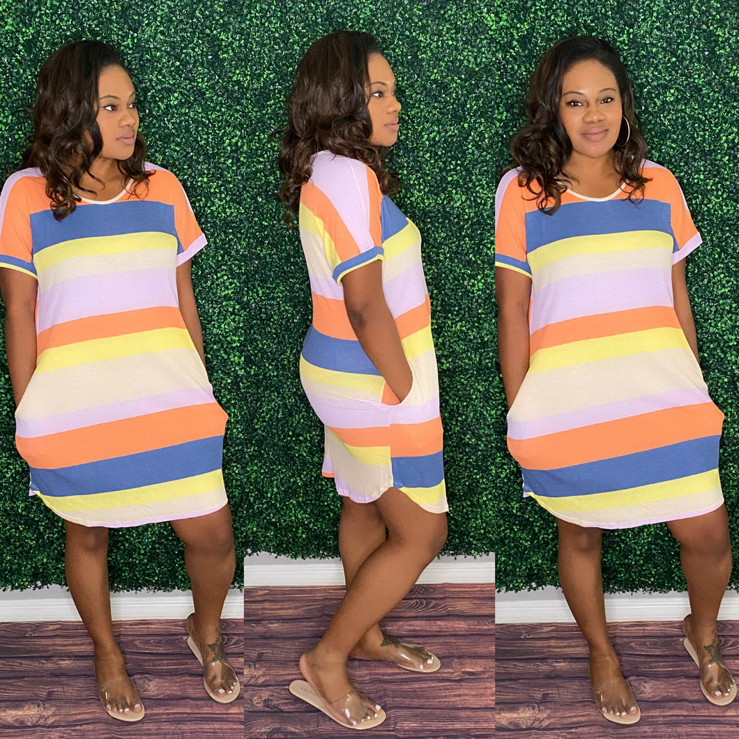 Mona ColorBlock Dress-Dress-TJS Beautique