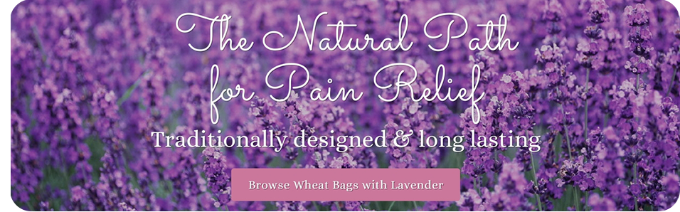 Wheat bags with lavender