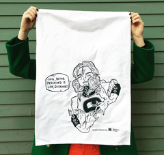 Limited edition artist tea towel design by Whess Harman. Every year West... click for more information