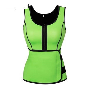 Body Sculpt Sweat Vest  (Neoprene Sauna Top Vest with Adjustable Waist Trimmer Belt)