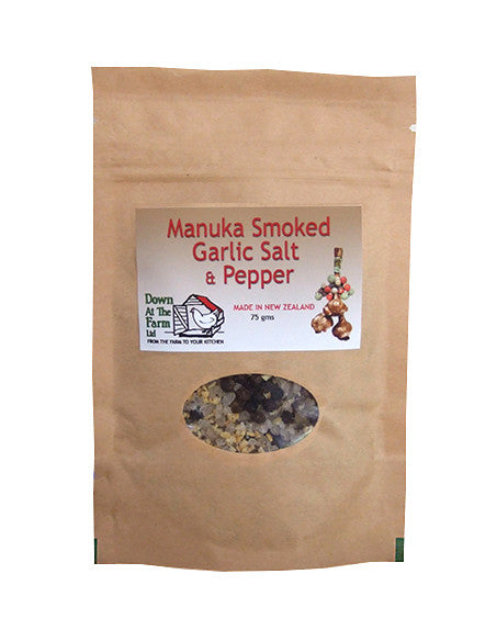 Manuka Smoked Garlic Salt and Pepper Pouch 75g