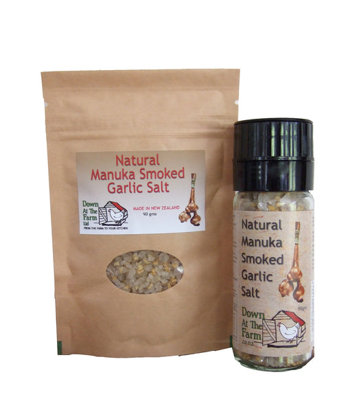 Combo: Manuka Smoked Garlic Salt Grinder with 90g pouch