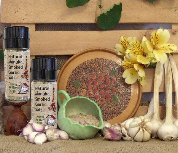 Manuka Smoked Garlic Salt Grinder