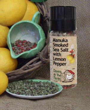 Manuka Smoked Salt with Lemon Pepper Grinder