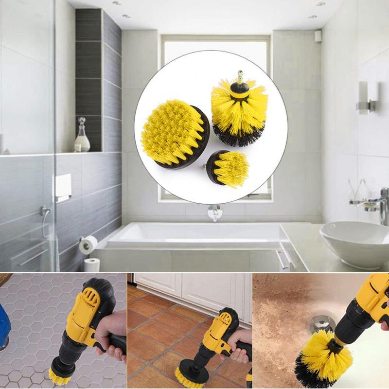 3 Pcs Power Scrubber Drill Brush Kit - perfect-cart.